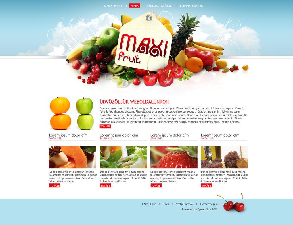 fruit seller company microsite by arkantal