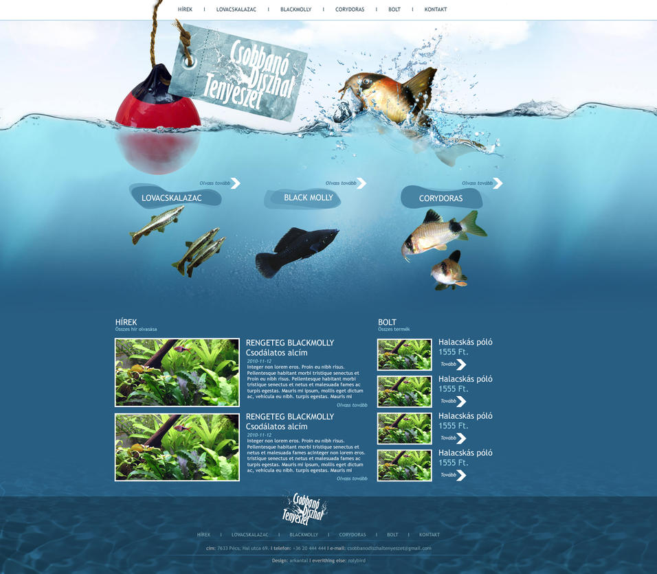 Csobbano halak webdesign by arkantal