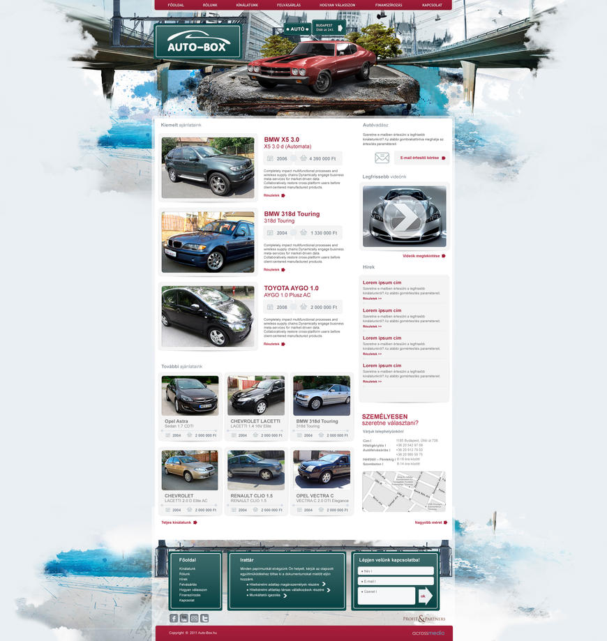 autobox car dealer site by arkantal