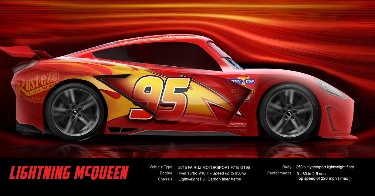 new lightning mcqueen 39 s f715 gt95 by racetfm on deviantart. Black Bedroom Furniture Sets. Home Design Ideas