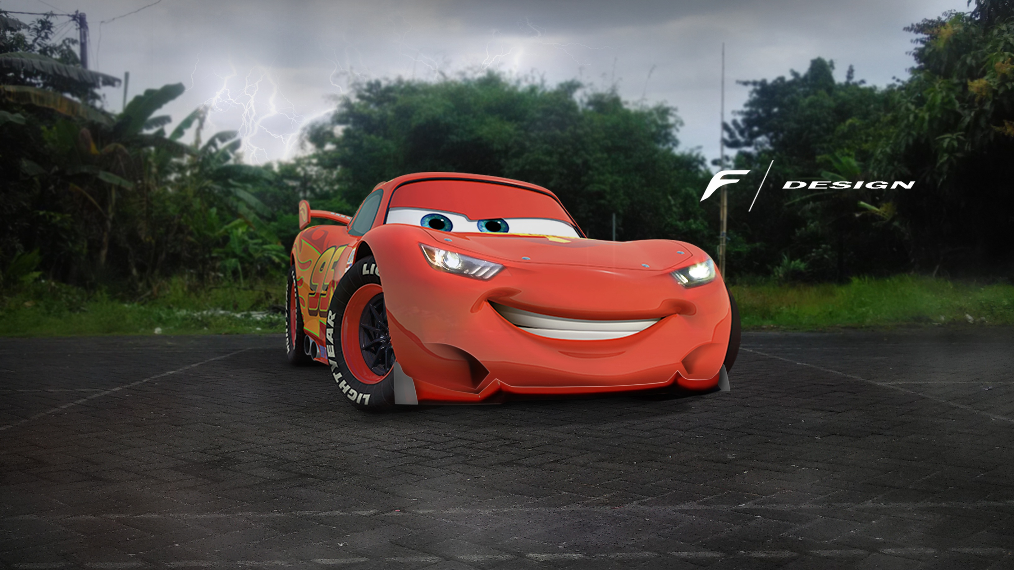 how to draw lightning mcqueen cars 3