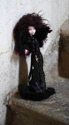 Black Nightingale - Draculaura ooak monster high by kikicri88