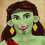 Orc bard portrait