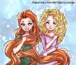Disney Princes Palette Swap: Rapunzel x Merida