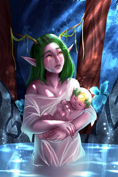 Commission - Labellina + Baby Ely