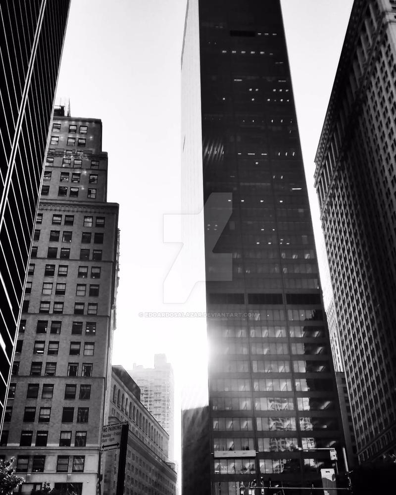 Black and White Buildings by edoardosalazar