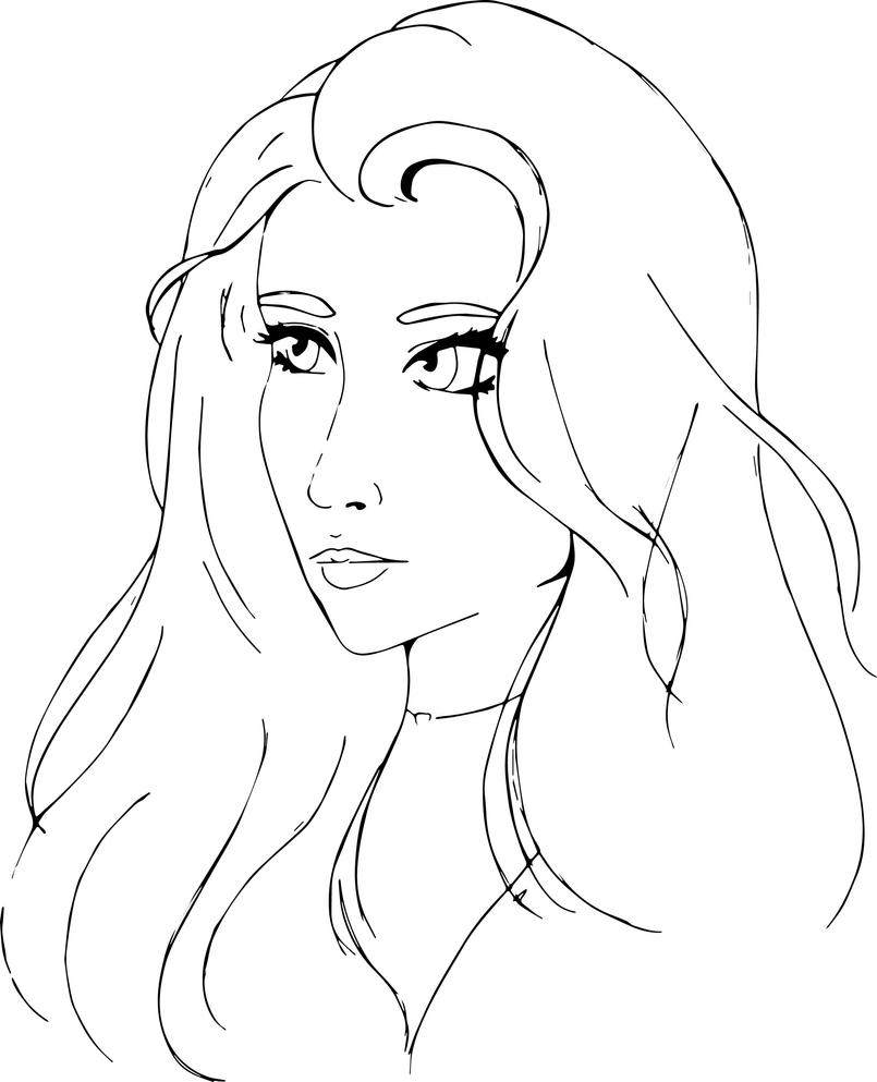 Bright Eyes - Line art and Base by Aynyi-Keir