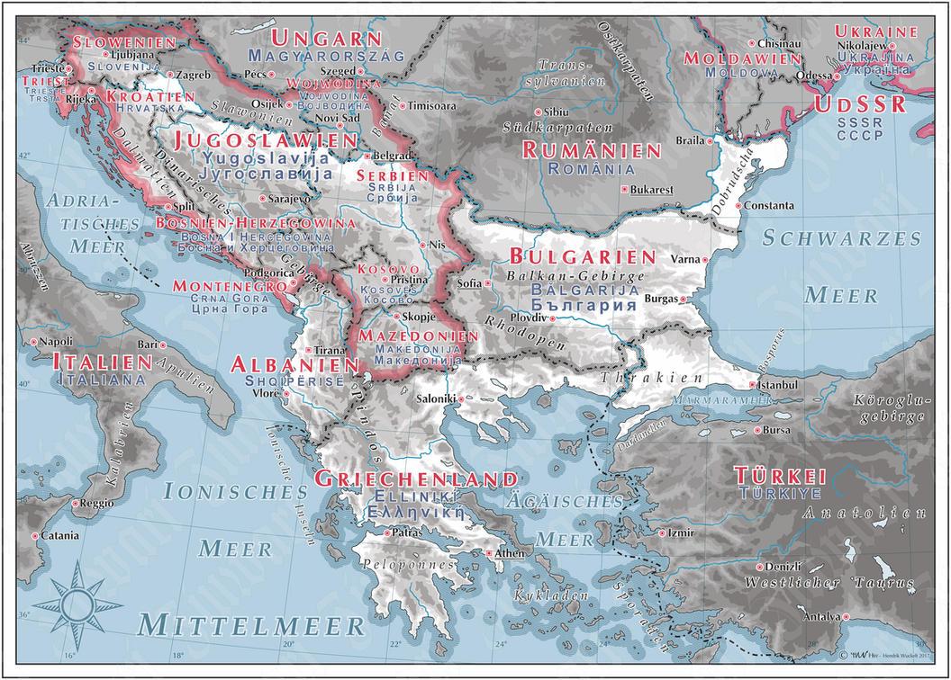 Balkan - 1950 by Cyowari