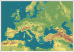Europa - topografisch