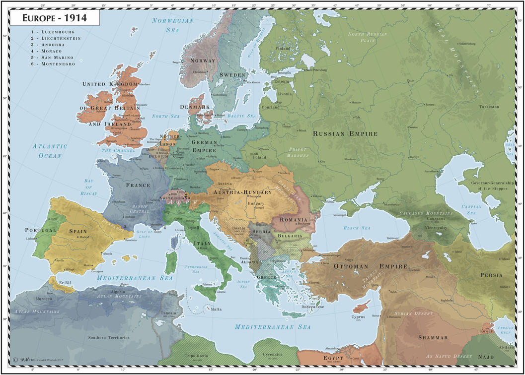 Europe - 1914 by Cyowari on DeviantArt
