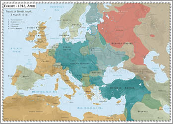 Europe - 1918, April - Treaty of Brest-Litovsk by Cyowari