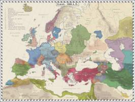 Europe - 1000 AD by Cyowari