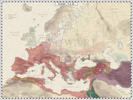 Europe - 5 AD by Cyowari