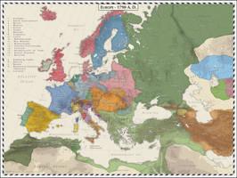 Europe 1790 by Cyowari