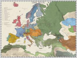 Europe 1815 by Cyowari