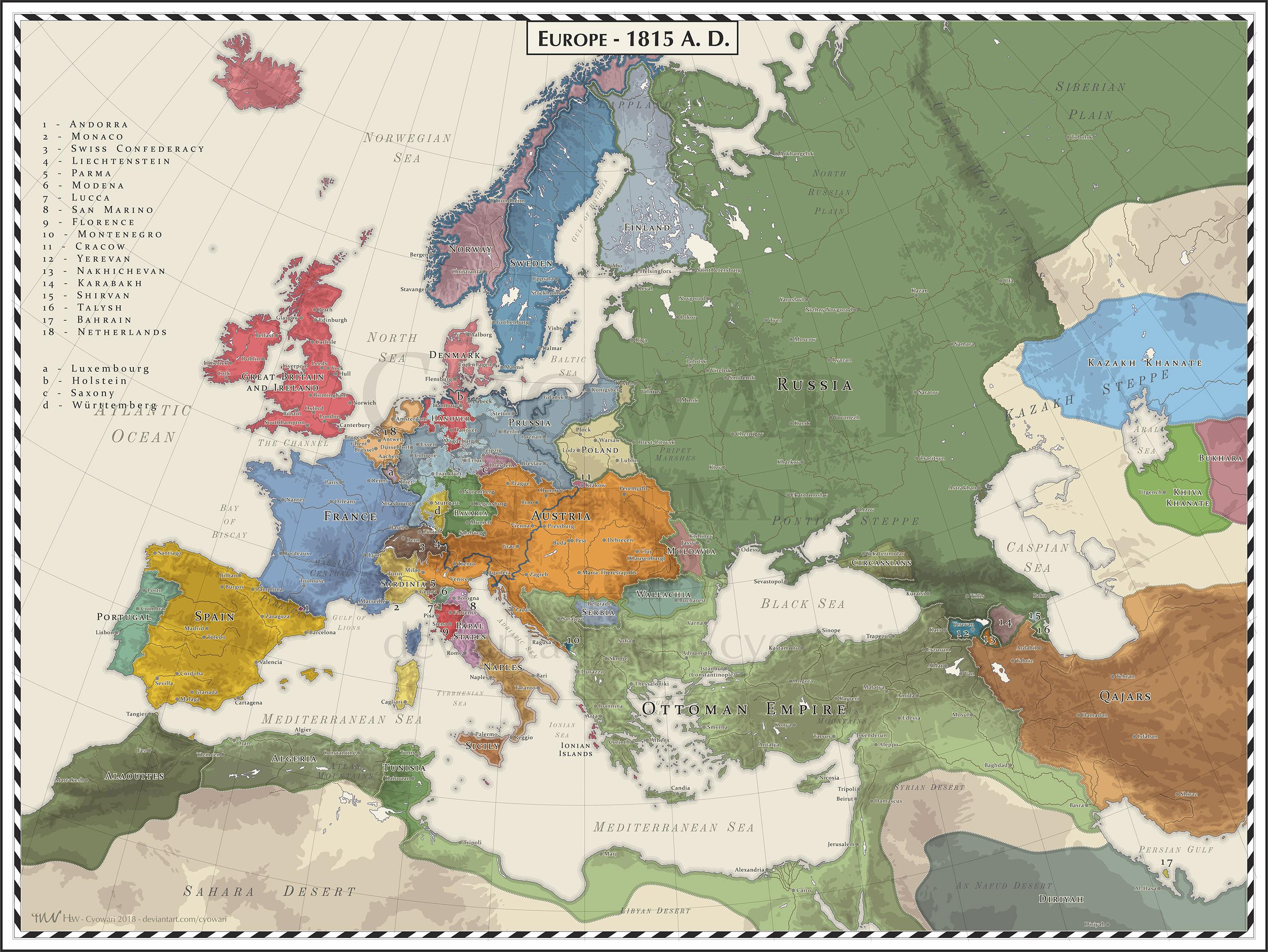Europe 1815 by Cyowari on DeviantArt