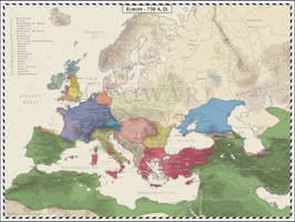 Europe - 750 AD by Cyowari