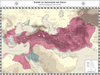 Empire of Alexander the Great 336-323 BC by Cyowari