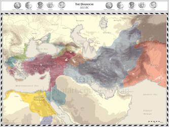 Diadochi - 303 BC by Cyowari