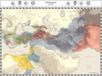Diadochi - 283 BC by Cyowari