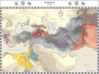 Diadochi - 270 BC by Cyowari