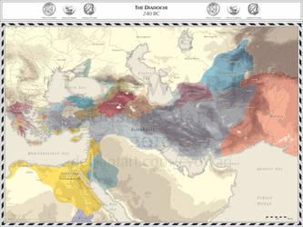 Diadochi - 240 BC by Cyowari