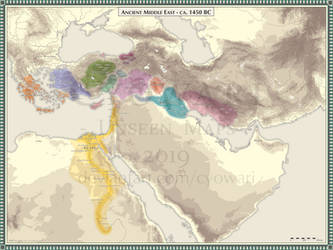 Ancient Middle East - 1450 BC by Cyowari