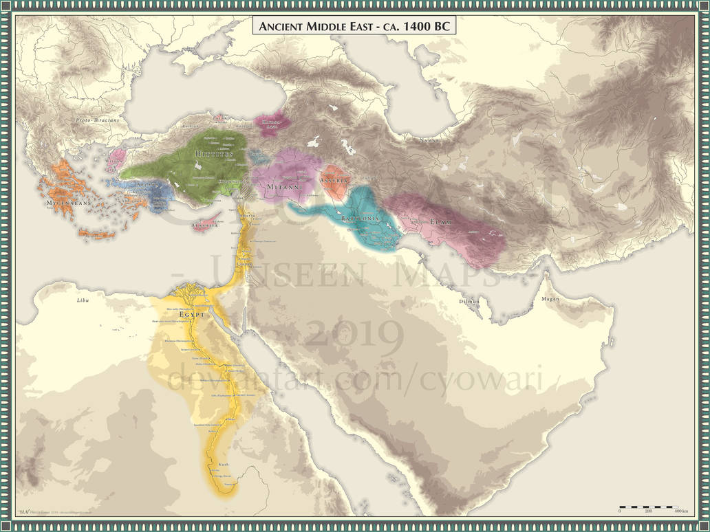 Ancient Middle East - 1400 BC by Cyowari