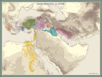 Ancient Middle East - 1375 BC by Cyowari