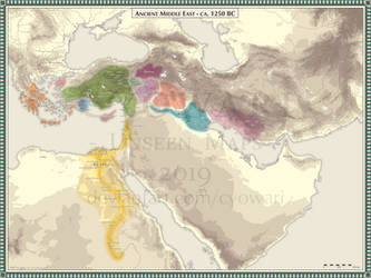 Ancient Middle East - 1250 BC by Cyowari