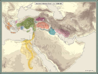 Ancient Middle East - 1200 BC by Cyowari