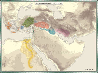 Ancient Middle East - 1175 BC by Cyowari