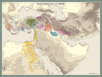 Ancient Middle East - 1500 BC by Cyowari
