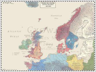 North Sea Empire - AD 1035 by Cyowari