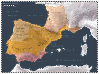 Hispania - Regnum Gothorum - AD 475-711 by Cyowari