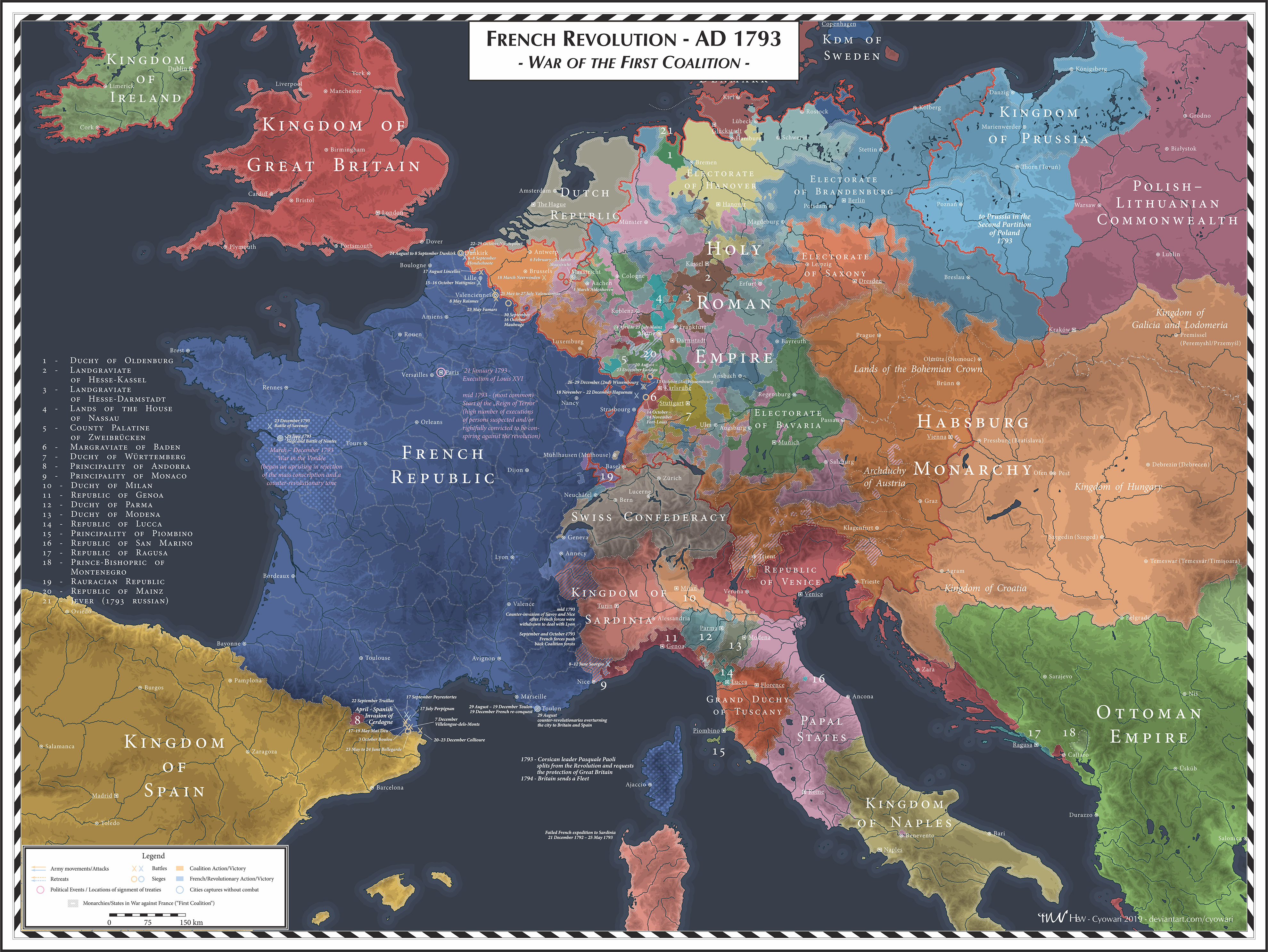 French Revolution - 1793 - First Coalition