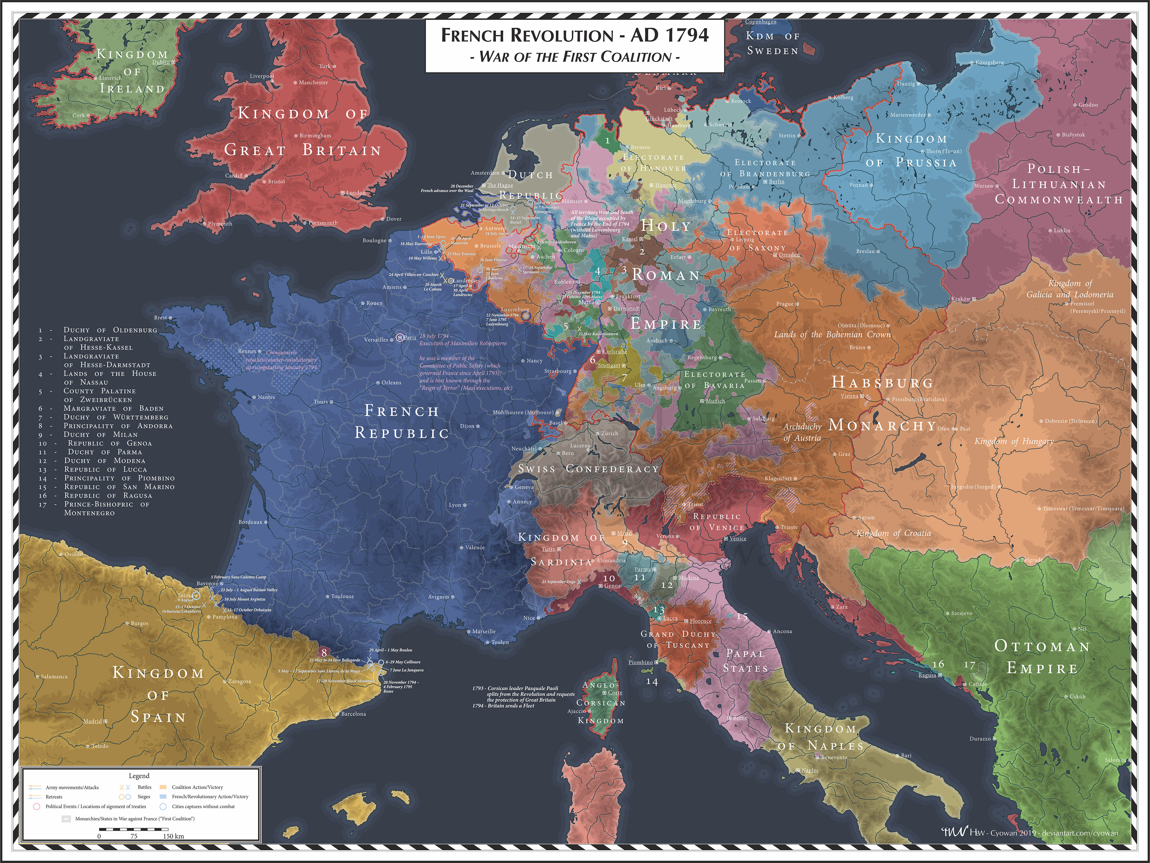 French Revolution - 1794 - First Coalition