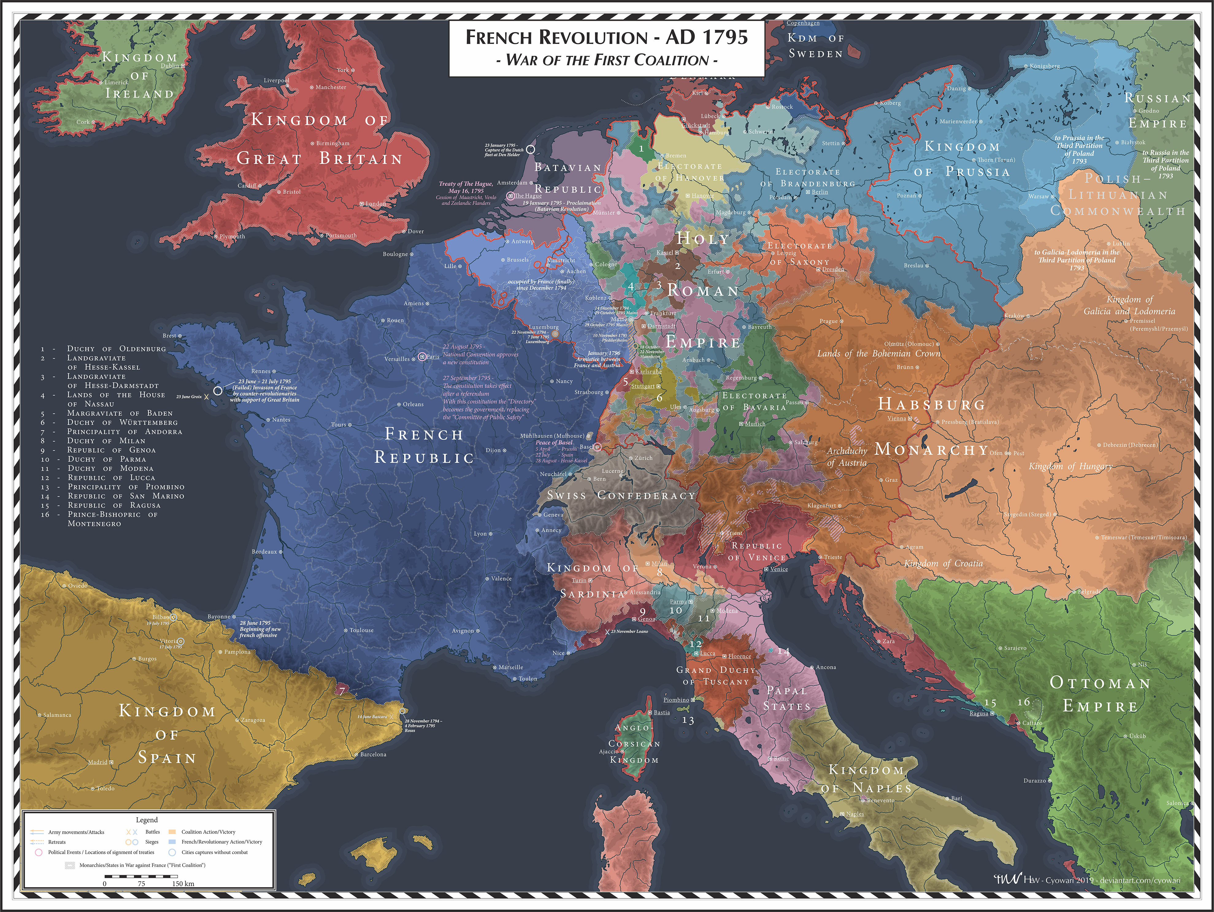 French Revolution - 1795 - First Coalition