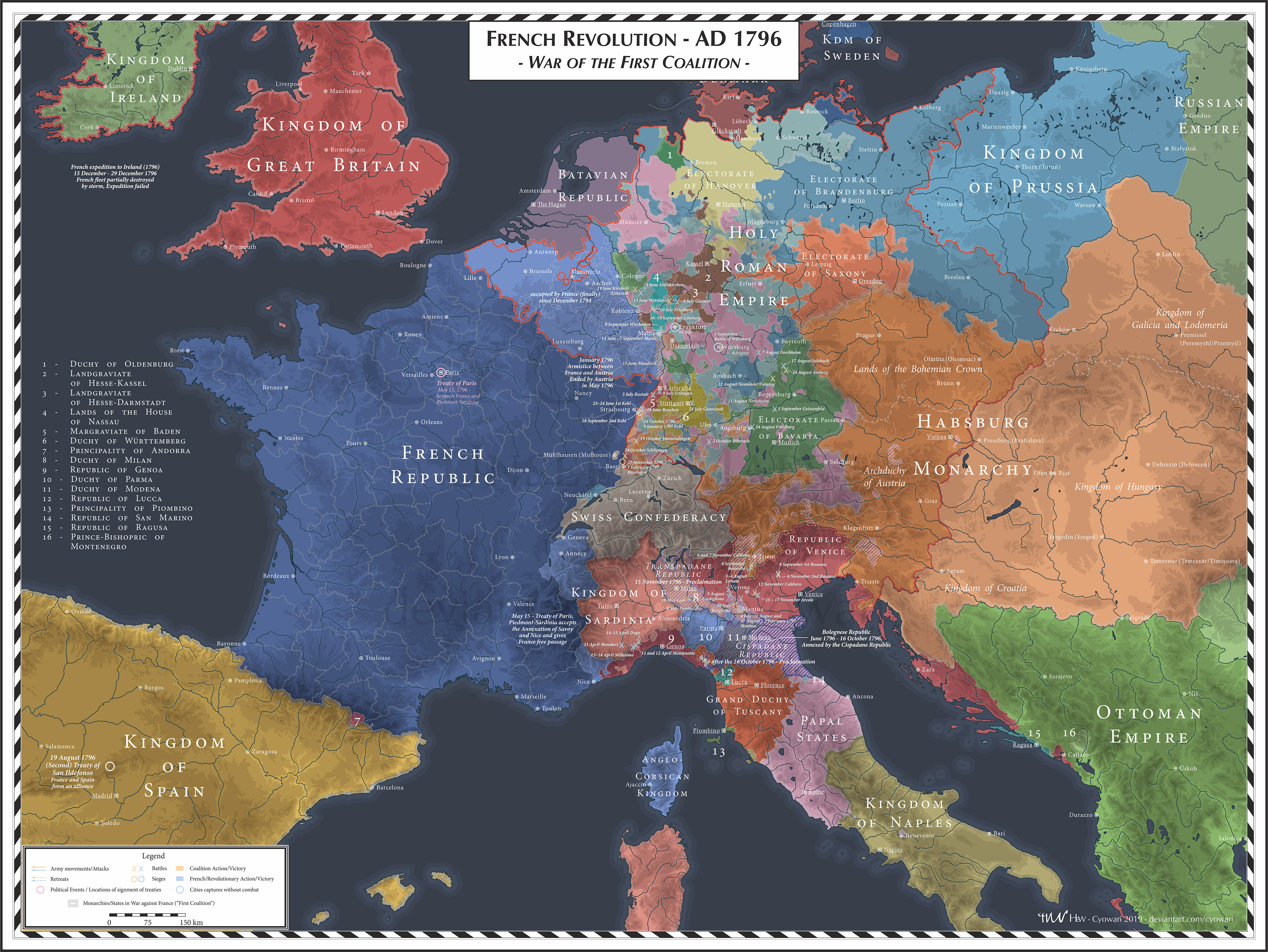 French Revolution - 1796 - First Coalition
