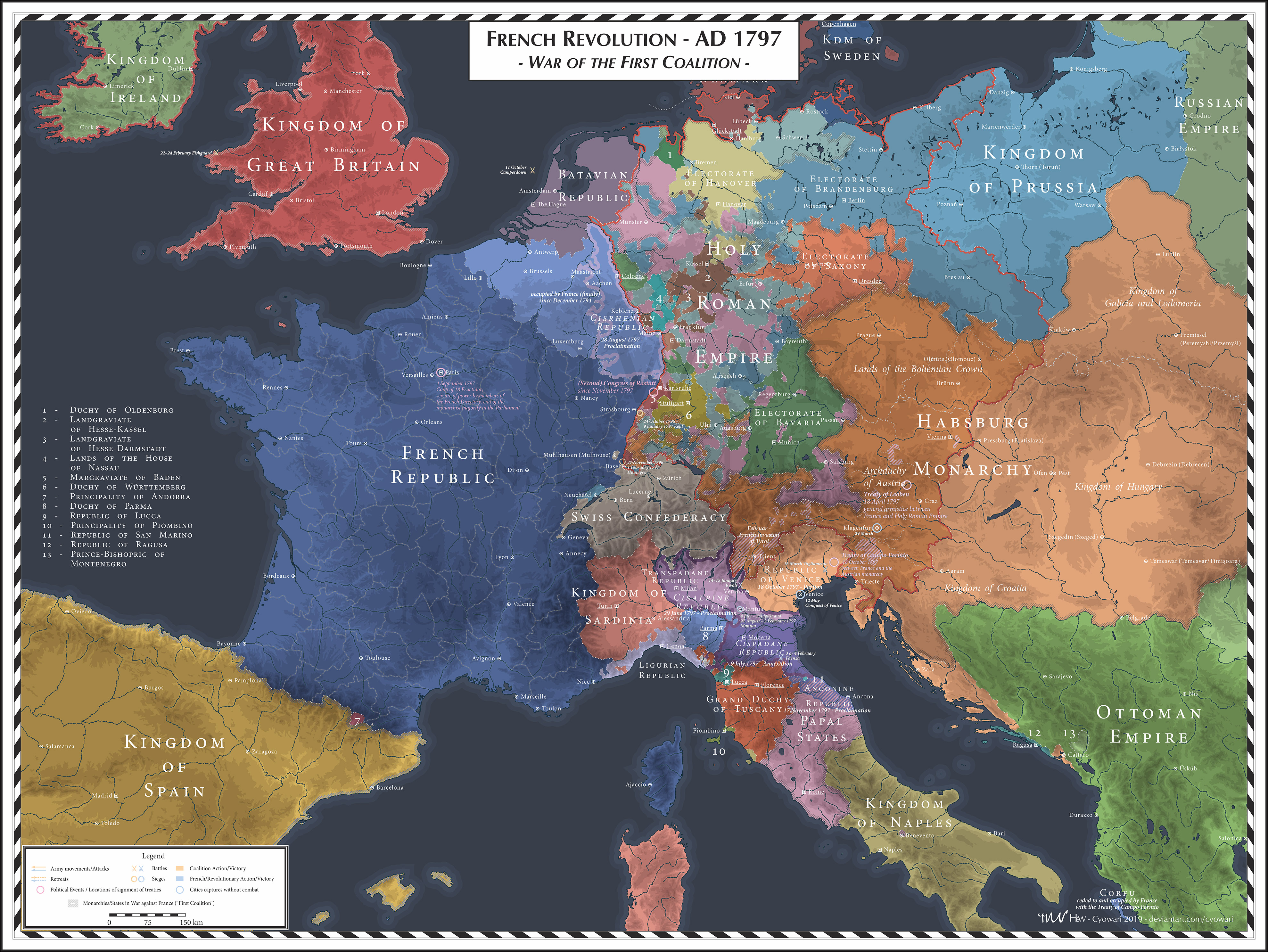 French Revolution - 1797 - First Coalition