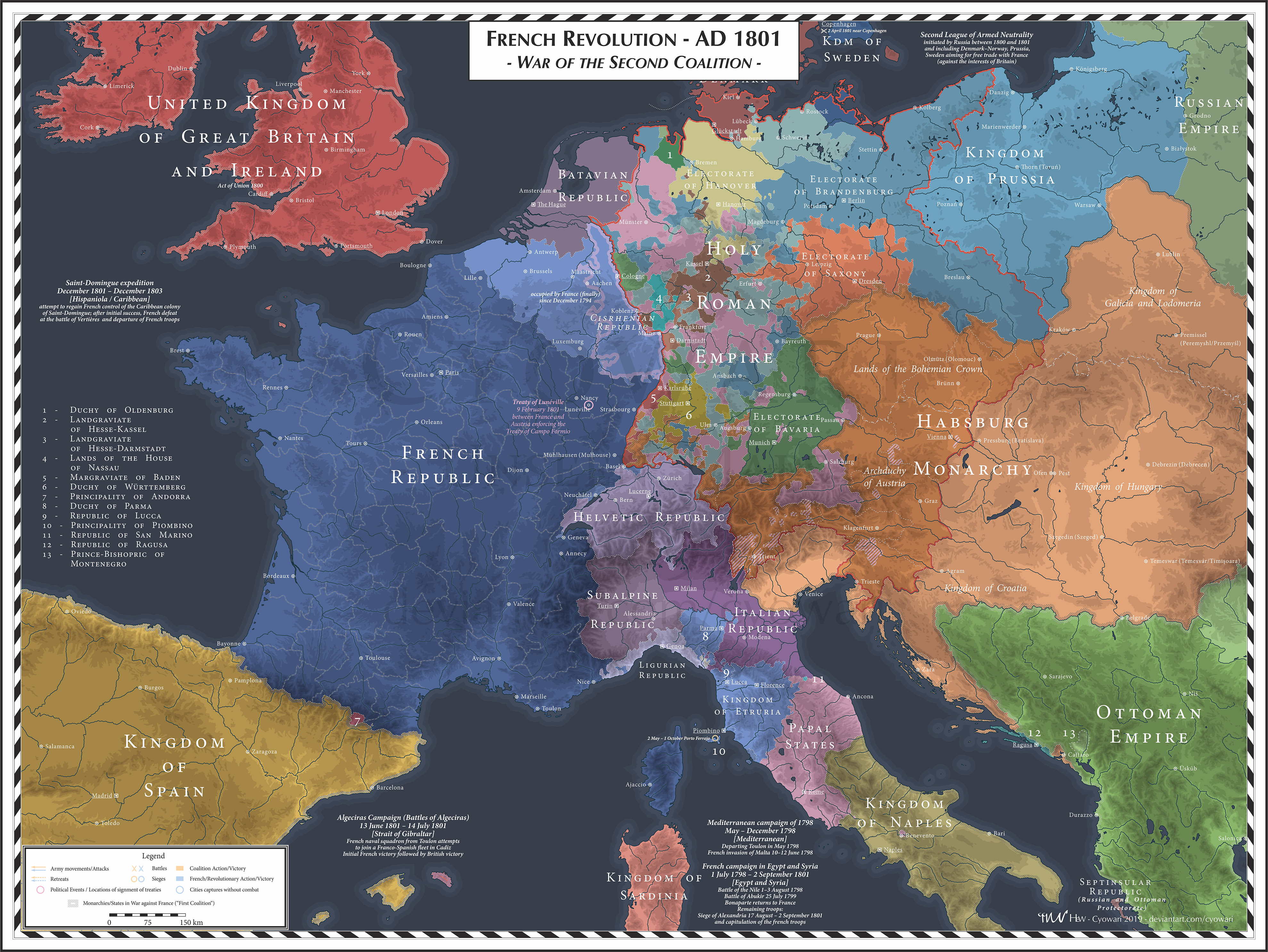 French Revolution - 1801 - Second Coalition