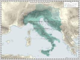 Ostrogothic Kingdom AD 493-553
