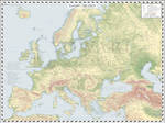 Europe (Detailed) - AD 2019 - Topographic