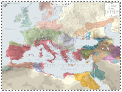 Europe (Mediterranean - D) - 69 BC