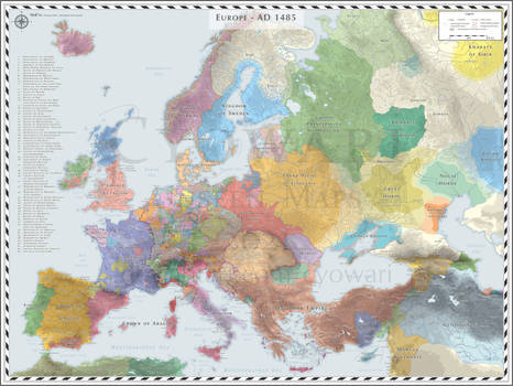 Europe (Detailed) - AD 1485