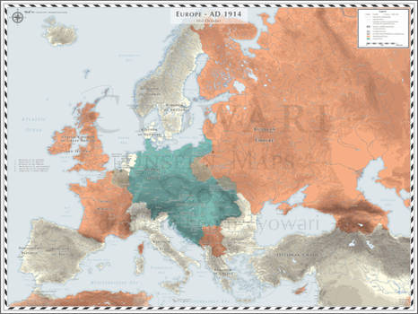Europe (Detailed) - AD 1914 - October - WWI - WIP