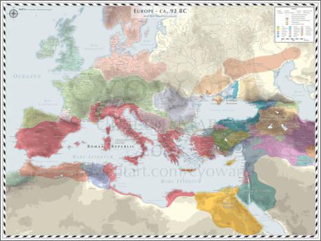 Europe (Mediterranean - D) - 92 BC