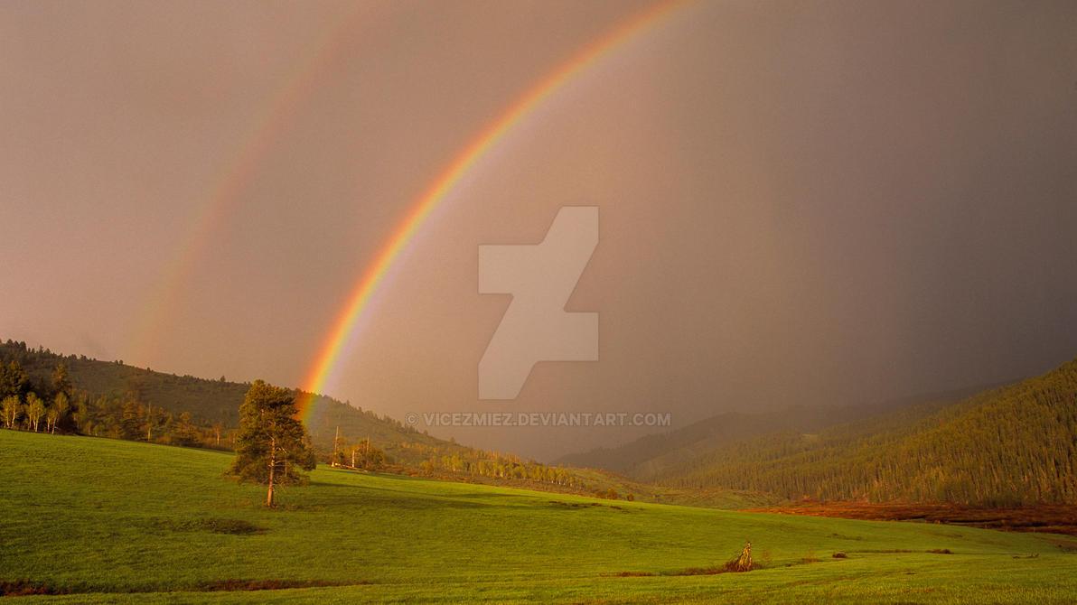 Double Rainbow Wallpaper by Vicezmiez