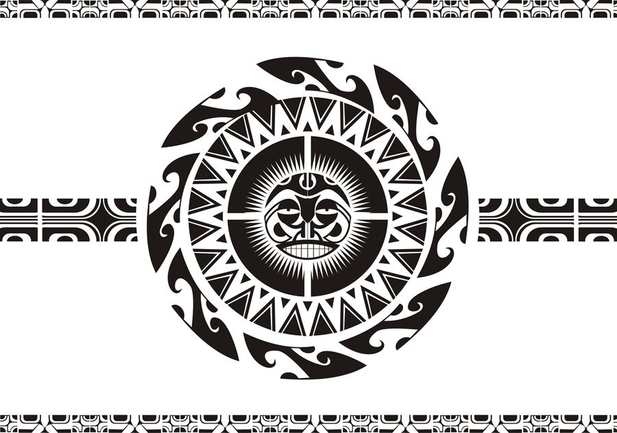 Maori Sun Tattoo: Sol Maori Sun By Hy3na On DeviantArt