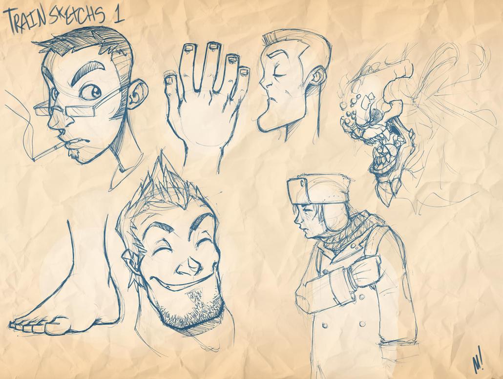 Train Sketches 1 by Zatransis